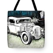 Custom Hot Rod Pickup Tote Bag
