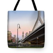 Custom House And Zakim Bridge Tote Bag