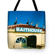 Customers At The Baitshop Tote Bag