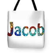 Customized Baby Kids Adults Pets Names - Jacob 2 Name Tote Bag by Sharon Cummings