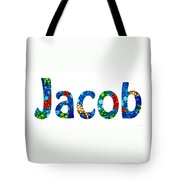 Customized Baby Kids Adults Pets Names - Jacob Name Tote Bag