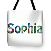 Customized Baby Kids Adults Pets Names - Sophia Name Tote Bag