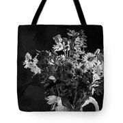 Cut Flowers In Monochrome Tote Bag
