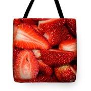 Cut Strawberries Tote Bag