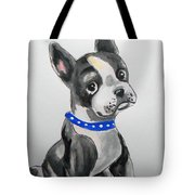 Boston Terrier Wall Art Tote Bag