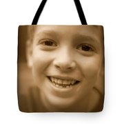 Cute Boy Smiling Tote Bag
