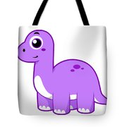 Cute Illustration Of A Brontosaurus Tote Bag