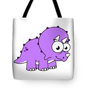 Cute Illustration Of A Triceratops Tote Bag