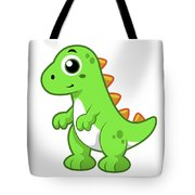 Cute Illustration Of Tyrannosaurus Rex Tote Bag