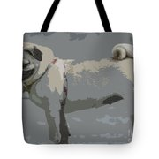 Cute Puggy Dog Tote Bag