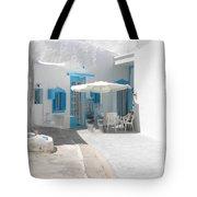 Cute Santorini Island Hause  Tote Bag