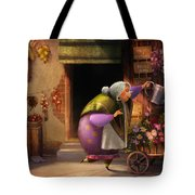 Cute Village Flower Shop Tote Bag