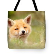 Cutie Face _red Fox Kit Tote Bag