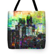 Cutout Art City Optimist Tote Bag