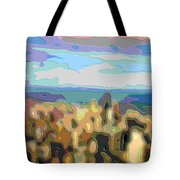 Cutout Art Ocean Skyline Tote Bag