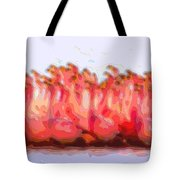 Cutout Layer Art Animal Portrait Flamingos Tote Bag