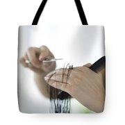 Cutting Hair Tote Bag