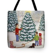 Cutting Our Tree Tote Bag
