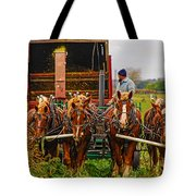 Cutting Silage 2 Tote Bag