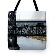 Cuyahoga River Cleveland Flats Tote Bag