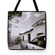 The Streets Of Cuzco Tote Bag