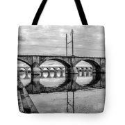 Cv - Susquehanna River Bridge Harrisburg  Pennsylvania In Black  Tote Bag