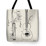 Cw Russell Acoustic Electric Guitar Patent 1939 Tote Bag