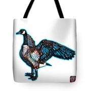 Cyan Canada Goose Pop Art - 7585 - Wb Tote Bag