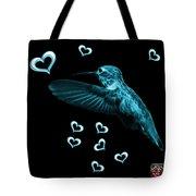 Cyan Hummingbird - 2055 F M Tote Bag