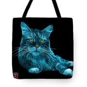 Cyan Maine Coon Cat - 3926 - Bb Tote Bag