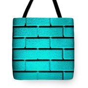 Cyan Wall Tote Bag