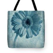 Cyanotype Gerbera Hybrida With Textures Tote Bag