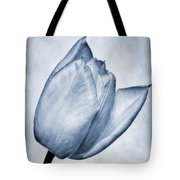 Cyanotype Tulip Tote Bag