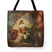 Cybele Opposing Vesuvius To Protect The Cities Of Stabia Tote Bag