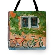 Cycle Cafe Tote Bag