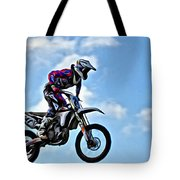 Cycle In The Air Tote Bag