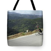 Cycling In Greek Mountains Tote Bag