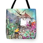 Cycling In The Mountains Of Gran Canaria Tote Bag