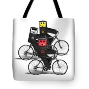 Cycling Recycle Bins Tote Bag