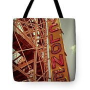 Cyclone Roller Coaster - Coney Island Tote Bag