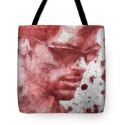 Cyclops X Men Paint Splatter Tote Bag