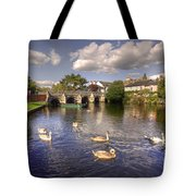 Cygnets At Christchurch  Tote Bag