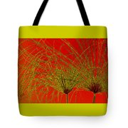 Cyperus Papyrus Abstract Tote Bag