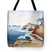 Cypress And Seagulls Tote Bag