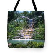 Cypress Garden Waterfalls Tote Bag