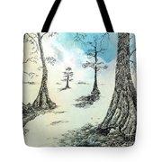 Cypress In Ink Tote Bag