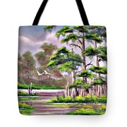 Cypress Trees-wakulla River Florida Tote Bag