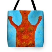 Cyprus Goddess With The Lifted Hands Tote Bag by Augusta Stylianou