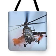 Czech Air Force Mi-35 Hind Helicopter Tote Bag