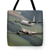 D Day Past And Present Tote Bag
